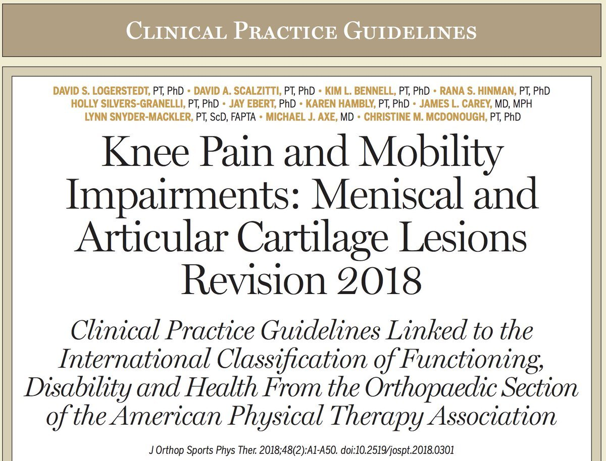 Clinical practice guideline for a physical therapist to study for the OCS exam
