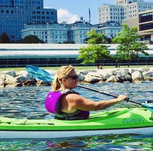 Carol Grgic, PT, OCS, kayaking in milwaukee, WI