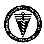Official logo for certified orthopedic clinical specialist